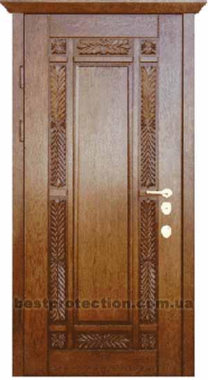 входная дверь сталь массив дуба